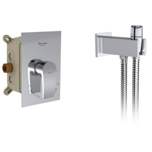 رومر توکار توالت brass شودر
