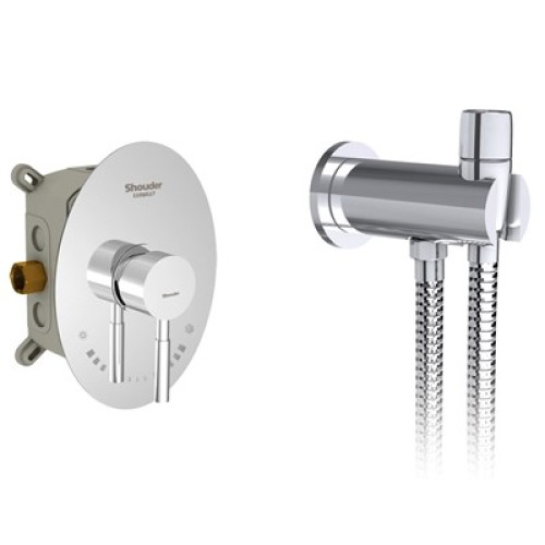 روگن توکار توالت brass شودر