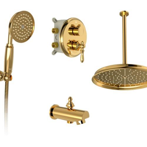 زیگموند توکار حمام تیپ3 brass شودر
